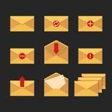 Iconos del email Foto de archivo libre de regalías