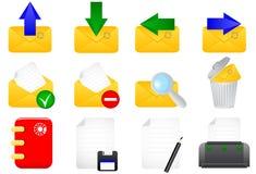 Iconos del email Fotografía de archivo libre de regalías