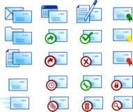 Iconos del email Fotos de archivo libres de regalías