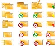 Iconos del email foto de archivo