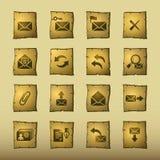 Iconos del email del papiro stock de ilustración