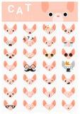 Iconos del emoji del gato Imagenes de archivo