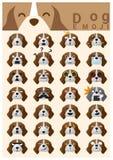 Iconos del emoji del perro Imágenes de archivo libres de regalías
