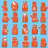 Iconos del empleo Foto de archivo libre de regalías