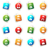 Iconos del empleo fijados Imágenes de archivo libres de regalías