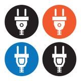 Iconos del enchufe eléctrico Imágenes de archivo libres de regalías