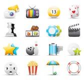Iconos del entretenimiento Foto de archivo libre de regalías