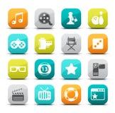 Iconos del entretenimiento stock de ilustración