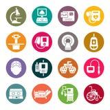 Iconos del equipamiento médico stock de ilustración