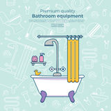 Iconos del equipo del baño libre illustration