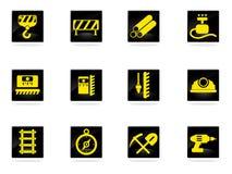Iconos del equipo del edificio fijados Fotografía de archivo libre de regalías