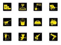 Iconos del equipo del edificio fijados Imagenes de archivo