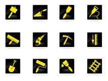 Iconos del equipo del edificio fijados Imagen de archivo libre de regalías
