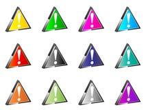 Iconos del error Imágenes de archivo libres de regalías
