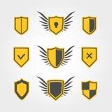 Iconos del escudo Imágenes de archivo libres de regalías
