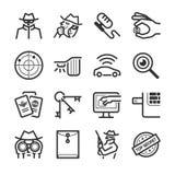 Iconos del espía libre illustration