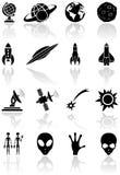 Iconos del espacio Fotos de archivo