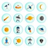 Iconos del espacio Imagen de archivo