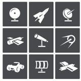 Iconos del espacio de vector fijados Imagen de archivo
