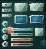 Iconos del espacio del Scifi para el juego de Ui ilustración del vector