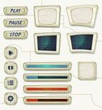 Iconos del espacio del Scifi para el juego de Ui Imagen de archivo libre de regalías