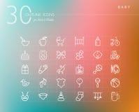 Iconos del esquema del bebé fijados Imagenes de archivo