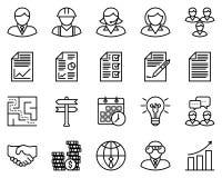 Iconos del esquema del negocio Imagenes de archivo