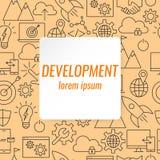 Iconos del esquema del desarrollo fijados libre illustration