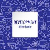 Iconos del esquema del desarrollo fijados Imagen de archivo