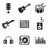 Iconos del estudio de la música libre illustration