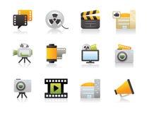 Iconos del estudio de la película Fotografía de archivo libre de regalías