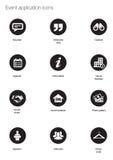 Iconos del evento Imagen de archivo