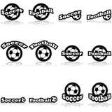 Iconos del fútbol Foto de archivo libre de regalías