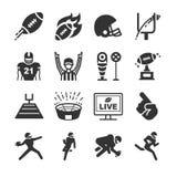 Iconos del fútbol americano ilustración del vector