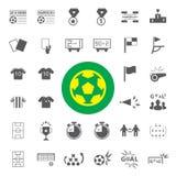 Iconos del fútbol fijados Imágenes de archivo libres de regalías