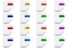 Iconos del fichero Fotografía de archivo libre de regalías