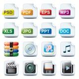 Iconos del fichero Fotos de archivo libres de regalías