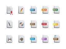 Iconos del fichero fijados Imagen de archivo libre de regalías