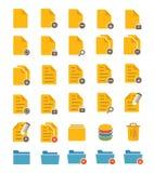 Iconos del fichero y de la carpeta Fotografía de archivo libre de regalías