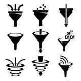 Iconos del filtro ilustración del vector