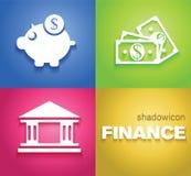 Iconos del fondo de las finanzas stock de ilustración