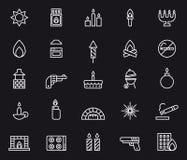 Iconos del fuego Foto de archivo