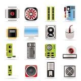Iconos del funcionamiento y del equipo de ordenador