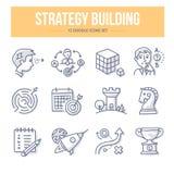 Iconos del garabato del edificio de la estrategia Foto de archivo libre de regalías