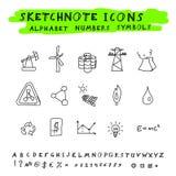 Iconos del garabato del vector Foto de archivo