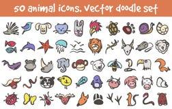 Iconos del garabato del vector fijados Fotos de archivo libres de regalías