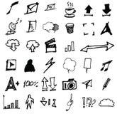 Iconos del garabato del vector Sistema universal eps10 Foto de archivo