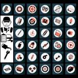 Iconos del garaje Fotografía de archivo libre de regalías