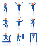 Iconos del gimnasio Imagen de archivo libre de regalías