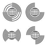 Iconos del globo fijados stock de ilustración